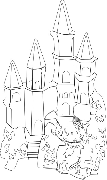 Castle Outline Clip Art Free Vector In Open Office Drawing Svg