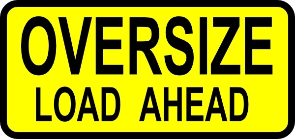 Caution Oversized Load clip art