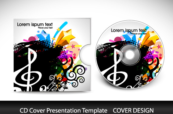 cd cover presentation vector template