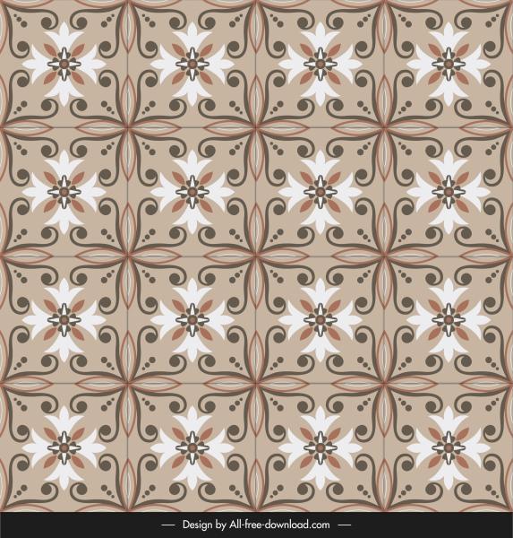 ceramic tile pattern elegant vintage symmetric floral decor