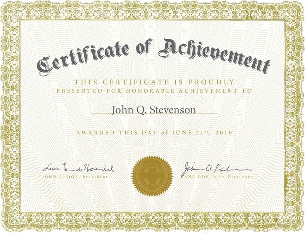 Certificate Template Vector Free Vector In Encapsulated Postscript