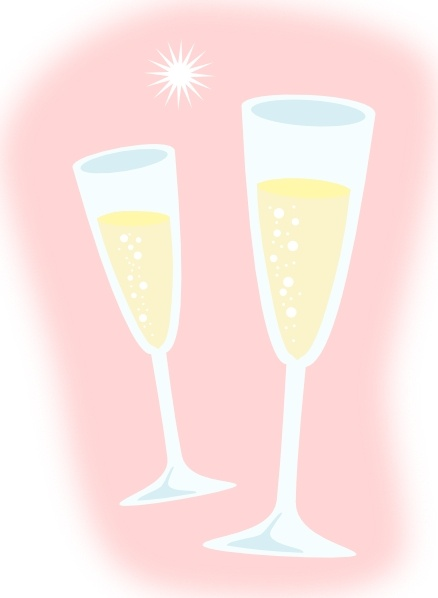 Champagne Glasses Clip Art Free Vector In Open Office