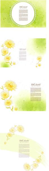 charm spring flower background art vector