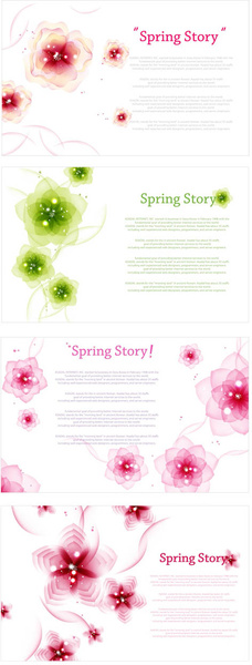 charm spring flower background art vector
