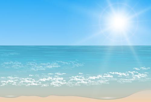 Landscape Illustration Vector Free: Charming Sea Landscape Design Vector Free Vector In
