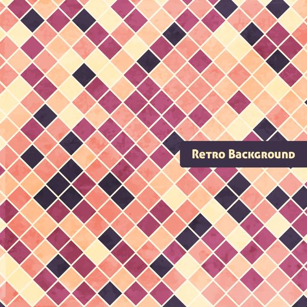 checkerboard retro grunge background