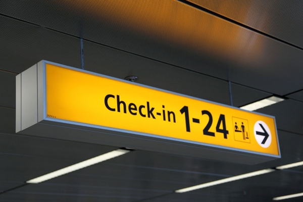 checkin sign