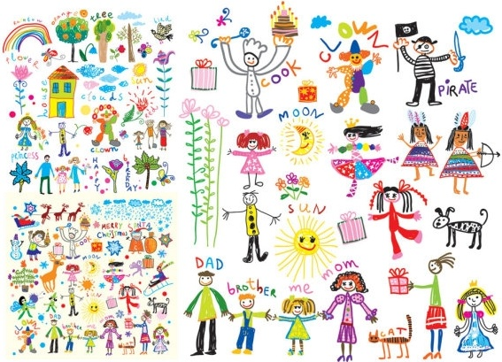cheerful children clip art illustrations free vector in encapsulated rh all free download com All Clip Art Free Download All Clip Art Free Download