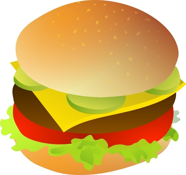 Cheese Burger Clip Art Free Vector In Open Office Drawing