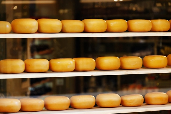 cheese on shelves
