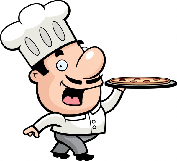 restaurant background serving cook icon cartoon character