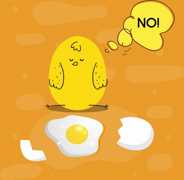 chicken egg background funny stylized sketch