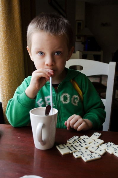 child and hot drink