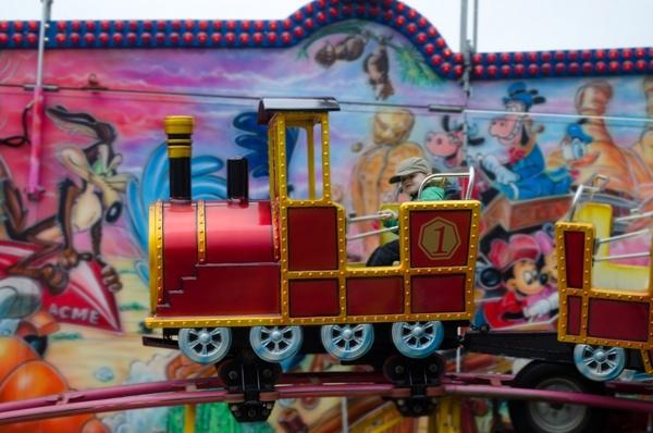 child and train