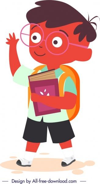 childhood icon cute cartoon character design
