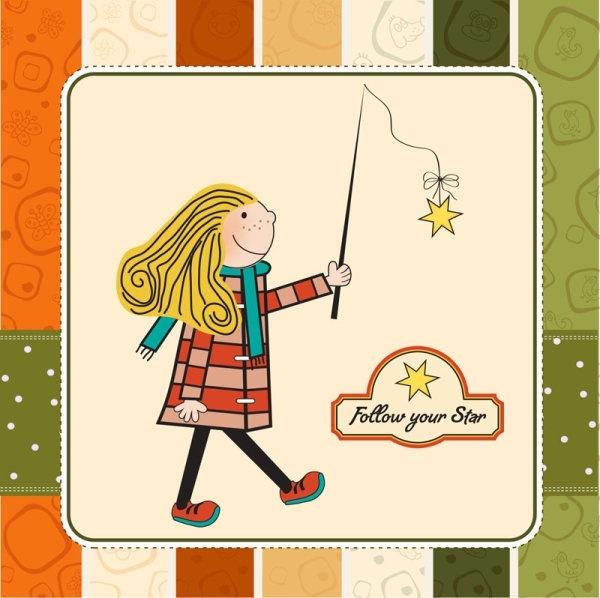 children39s cartoon illustration 02 vector