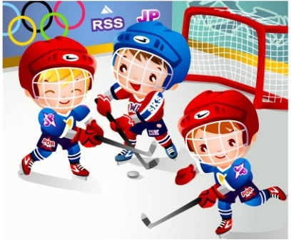 children clip art hockey