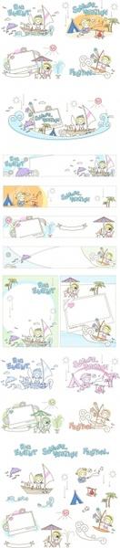 children summer lovely vector