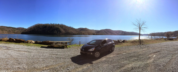 chilhowee lake panorama