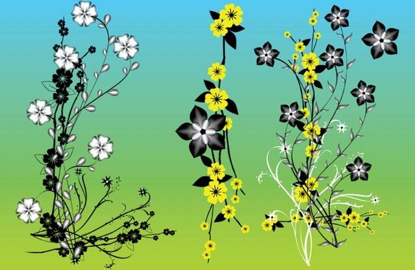 Chinese Flowers Vector Art