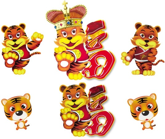 chinese new year cartoon tiger psd
