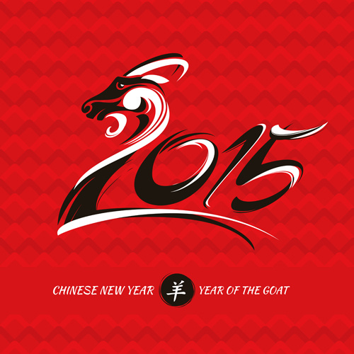 chinese new year of goat vector background
