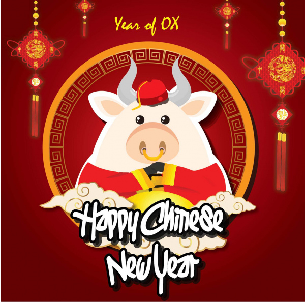 Chinese new years 2021 Free vector in Adobe Illustrator ai ...