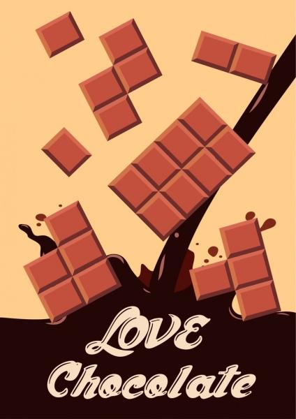 chocolate promotion banner brown liquid splash decor