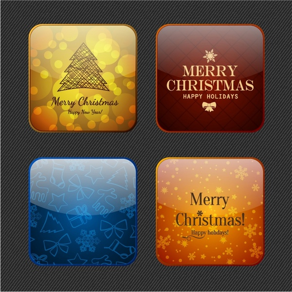 Christmas and New Year symbols