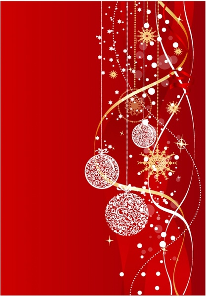 red white christmas background free vector download