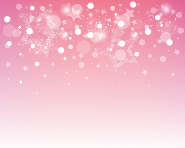 Christmas Background Circles Stars Decor Sparkling Pink