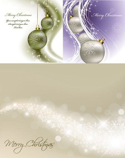 christmas background templates modern twinkling baubles decor