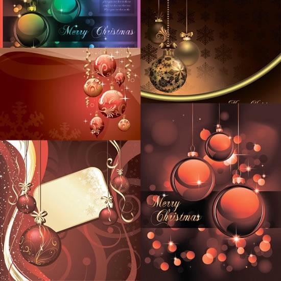 xmas background templates elegant modern design baubles icons