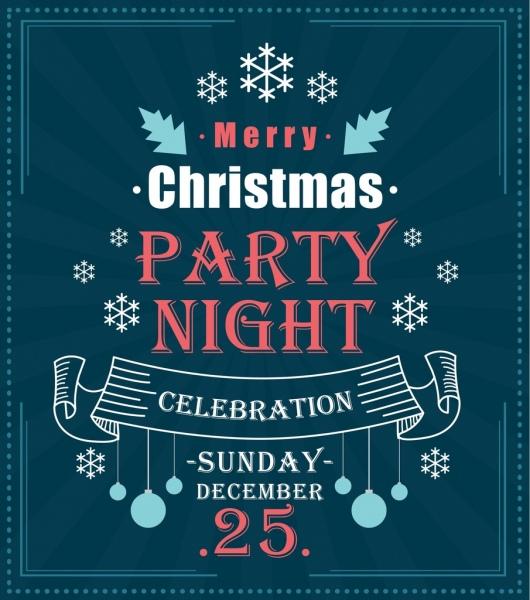 christmas banner classical dark design