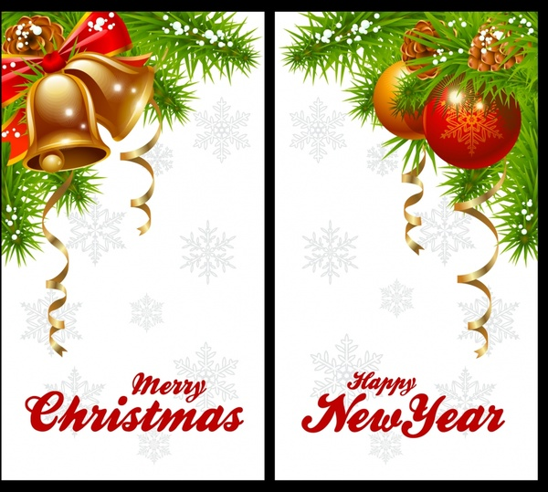 christmas background templates bright colorful baubles decor
