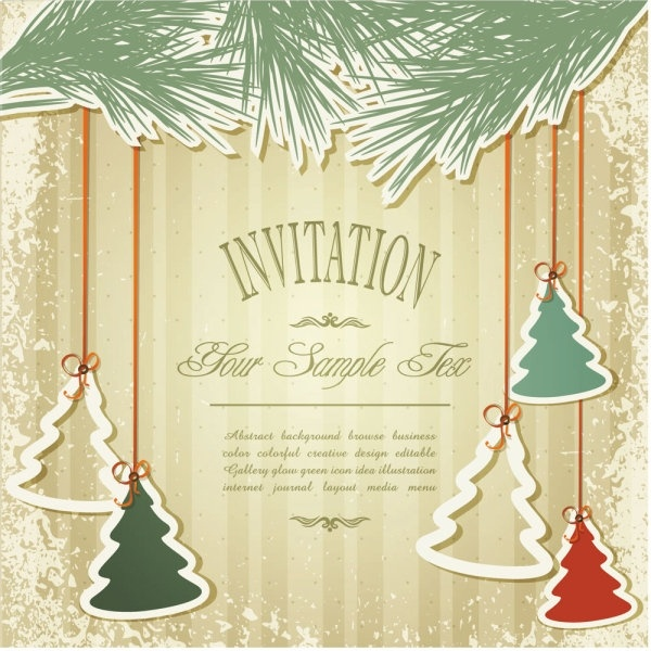 Christmas Cards 02 Vector Free