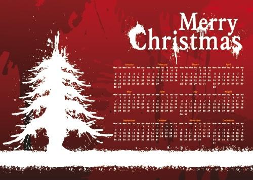 christmas day background calendar 01 vector