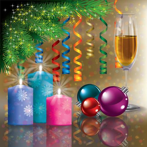 Christmas Tree Decoration Elements: Christmas Decoration Elements Vector Free Vector In