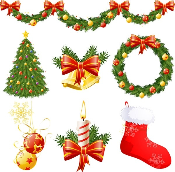 Christmas decorations vector Free vector 3.60MB