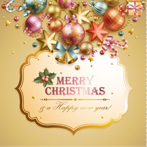 christmas elements background 05 vector