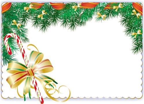 christmas elements border 01 vector