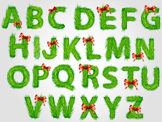 Christmas english fonts 03 vector Free vector in Encapsulated ...