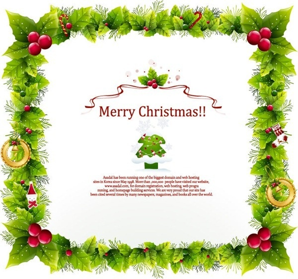 christmas frame vector graphic