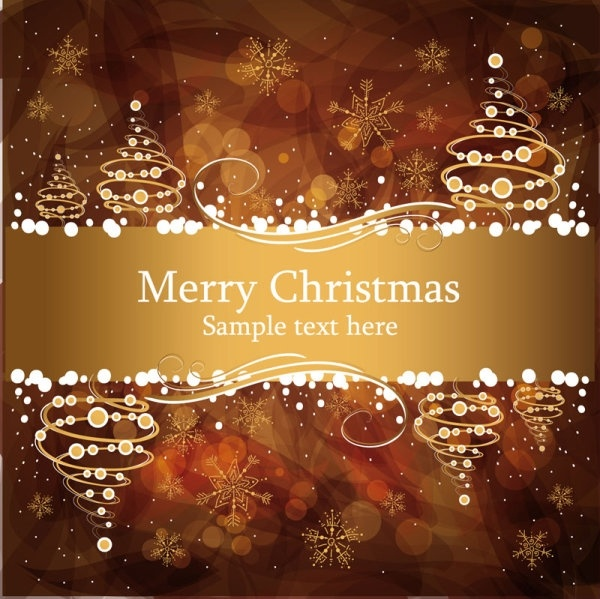 christmas gorgeous brown background 04 vector