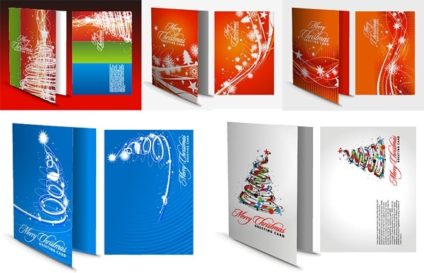 Christmas Greeting Card Template Vector Free Vector In