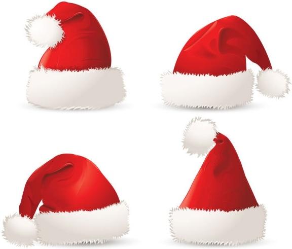 christmas hats 01 vector