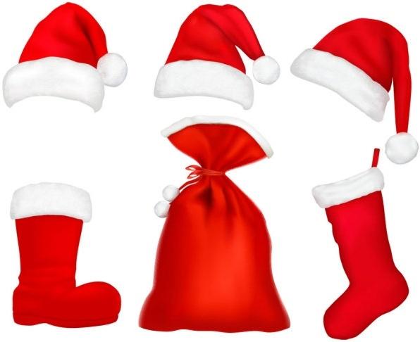 christmas hats 05 vector