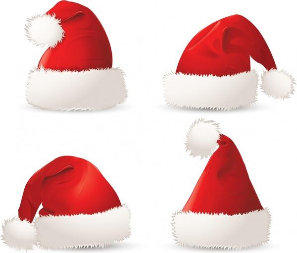 christmas hats christmas vector