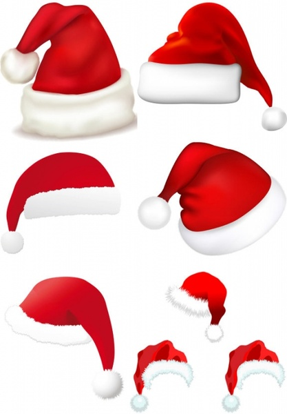 christmas hats vector free vector in encapsulated postscript eps rh all free download com free santa hat vector png santa claus hat vector free download