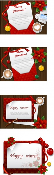 christmas background letter icon colorful classical design